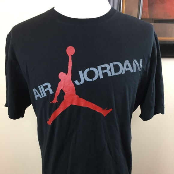 623def01247 Jordan Shirts | Nike Air Black Red Jumpman Logo Tshirt Xl | Poshmark